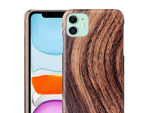 iPhone 11 (6.1) Woody Patterned Back Case