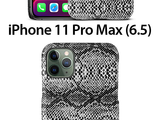 iPhone 11 Pro Max (6.5) Faux Snake Skin Back Case