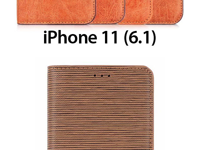 iPhone 11 (6.1) Two-Tone Leather Flip Case