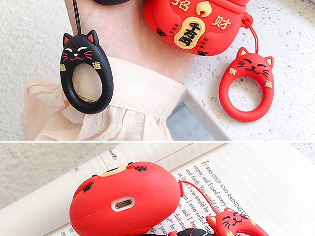 3D Lucky Cat AirPods Case