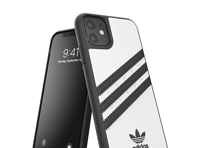 Adidas Moulded Case PU FW19 (White/Black) for iPhone 11 (6.1)