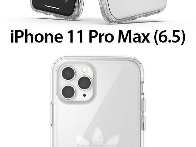 Adidas Protective Clear Case Big Logo FW19 (Clear) for iPhone 11 Pro Max (6.5)