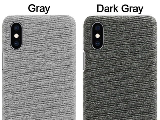 iPhone X / XS (5.8) Fabric Canvas Back Case