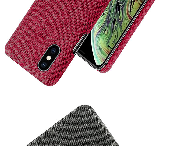iPhone XS Max (6.5) Fabric Canvas Back Case