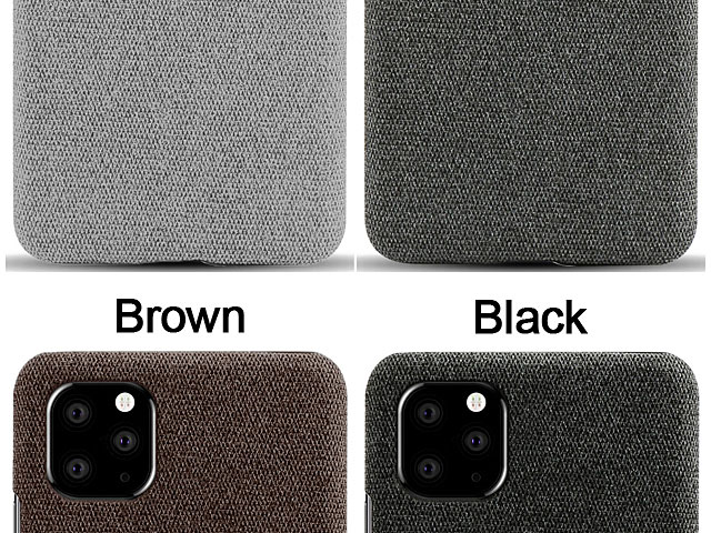 iPhone 11 Pro Max (6.5) Fabric Canvas Back Case