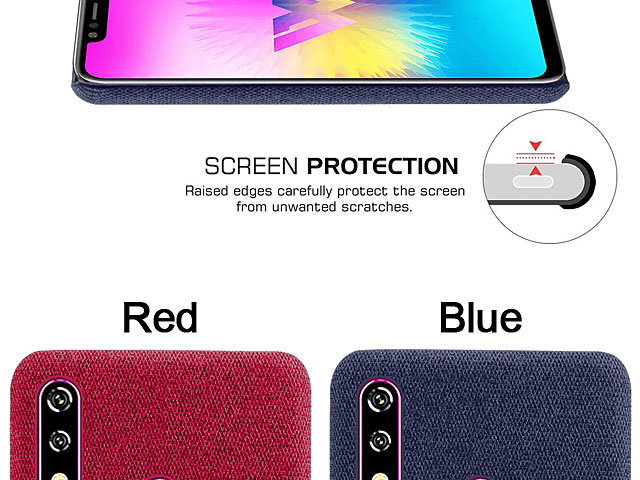 LG W10 Fabric Canvas Back Case