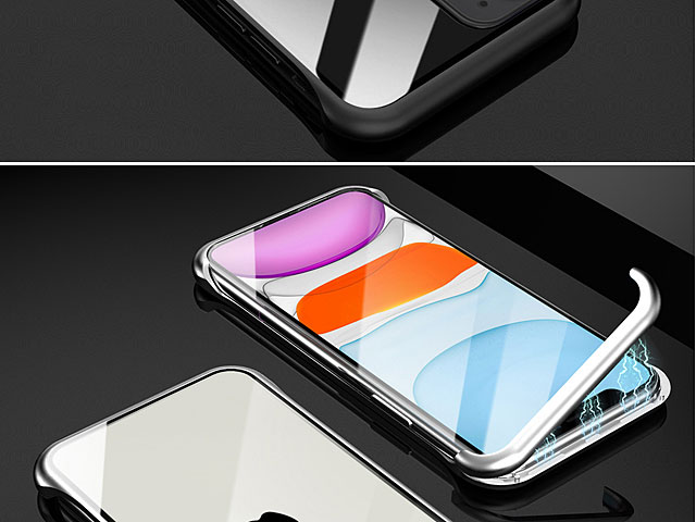 iPhone 11 (6.1) Magnetic Aluminum Case with Tempered Glass