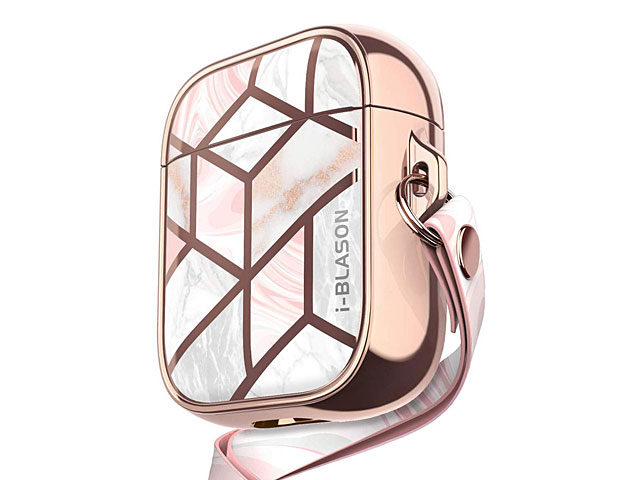 i-Blason Cosmo Slim Designer Case (Pink Marble) for Apple AirPods