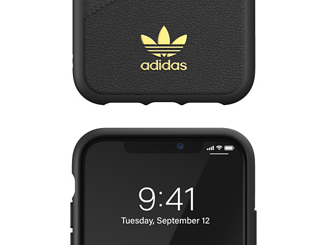 Adidas Moulded Case PU Premium FW19 (Black/Gold) for iPhone 11 (6.1)