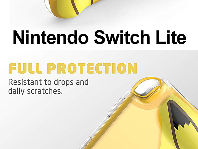 Mumba Clear Cover with TPU Grip (Yellow) for Nintendo Switch Lite