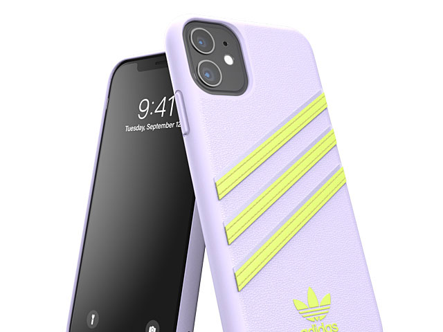 Adidas Moulded Case PU Woman SS20 (Purple Tint/Hi-Res Yellow) for iPhone 11 (6.1)