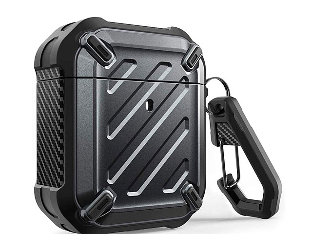 Supcase Unicorn Beetle Pro Rugged Case with Carabiner for Apple AirPods