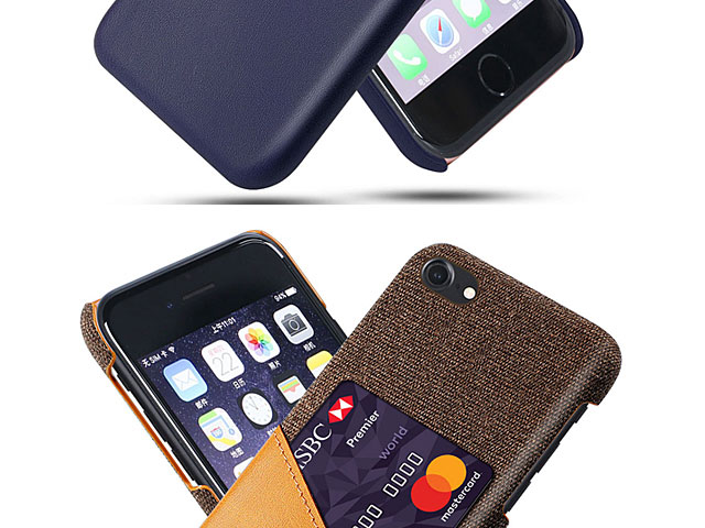 iPhone 8 Two-Tone Leather Case with Card Holder