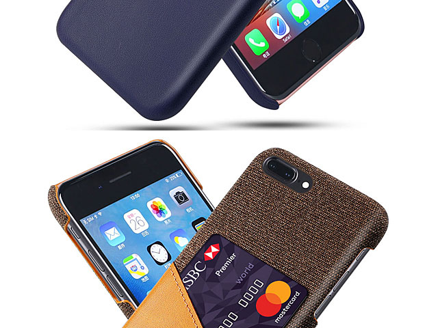 iPhone 8 Plus Two-Tone Leather Case with Card Holder