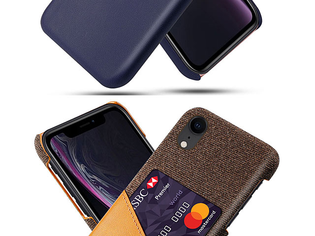 iPhone XR (6.1) Two-Tone Leather Case with Card Holder