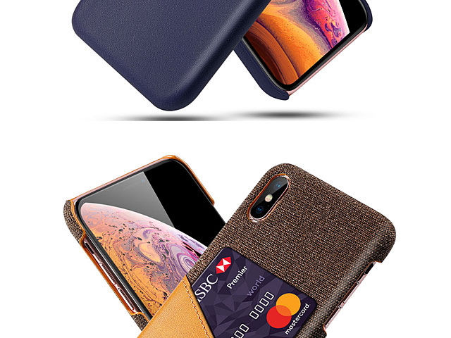 iPhone X / XS (5.8) Two-Tone Leather Case with Card Holder