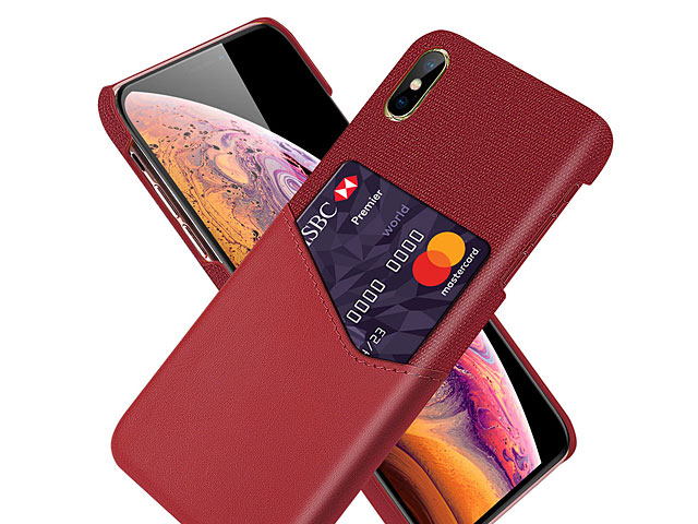 iPhone XS Max (6.5) Two-Tone Leather Case with Card Holder