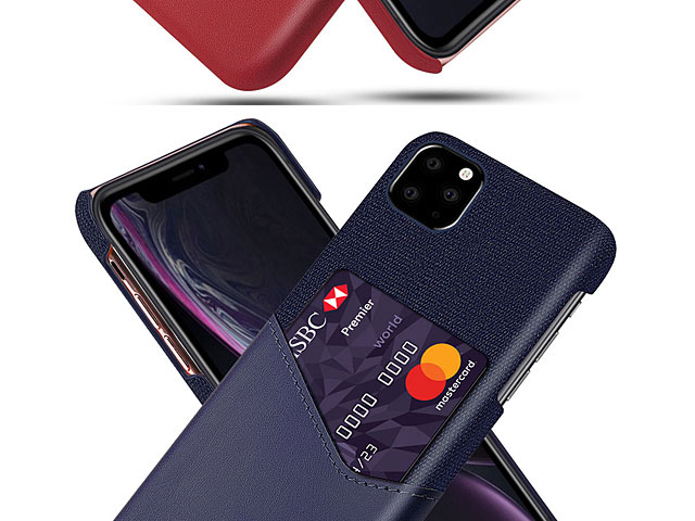 iPhone 11 Pro Max (6.5) Two-Tone Leather Case with Card Holder