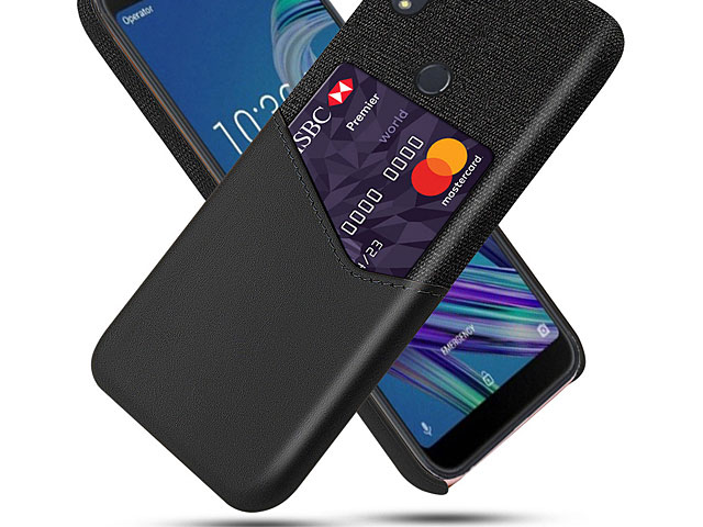 Asus Zenfone Max Pro (M1) ZB601KL Two-Tone Leather Case with Card Holder