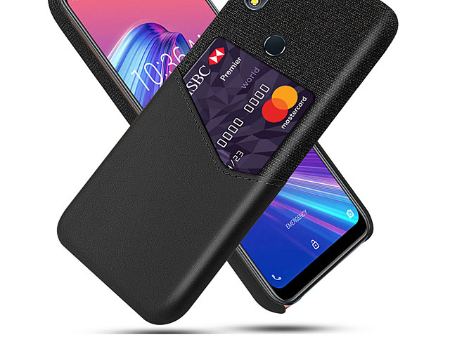 Asus Zenfone Max Pro (M2) ZB631KL Two-Tone Leather Case with Card Holder