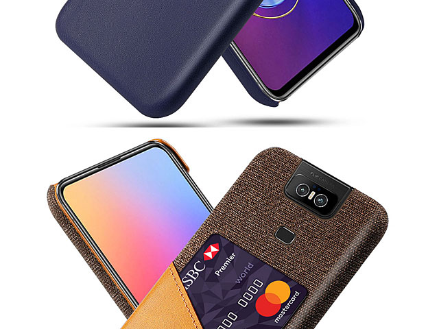 Asus Zenfone 6 ZS630KL Two-Tone Leather Case with Card Holder