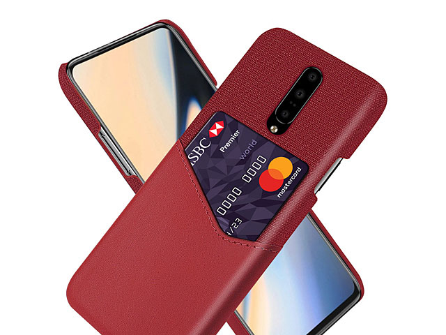 OnePlus 7 Pro Two-Tone Leather Case with Card Holder