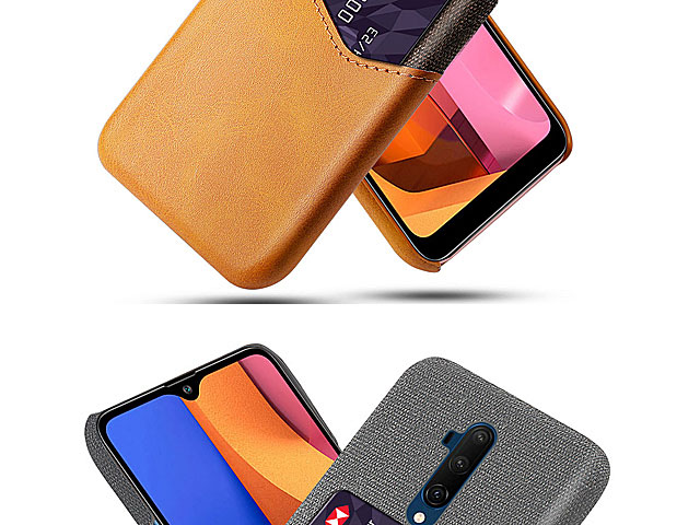 OnePlus 7T Pro Two-Tone Leather Case with Card Holder