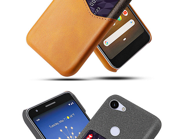 Google Pixel 3a Two-Tone Leather Case with Card Holder