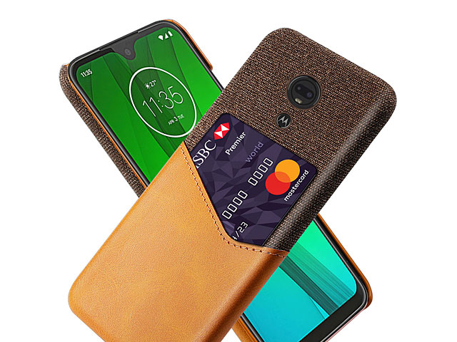 Motorola Moto G7 Play Two-Tone Leather Case with Card Holder