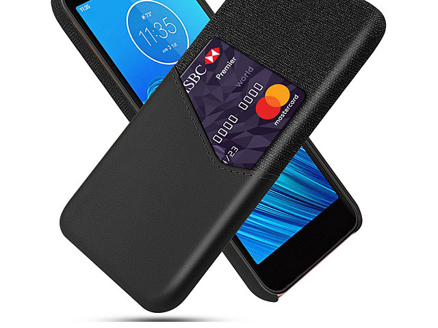 Motorola Moto E6 Two-Tone Leather Case with Card Holder