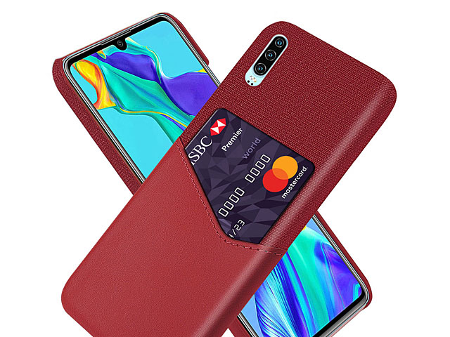 Huawei P30 Two-Tone Leather Case with Card Holder