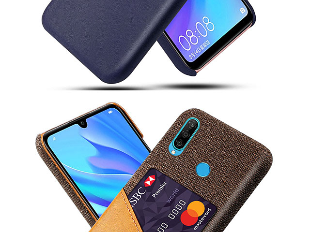 Huawei P30 Lite Two-Tone Leather Case with Card Holder