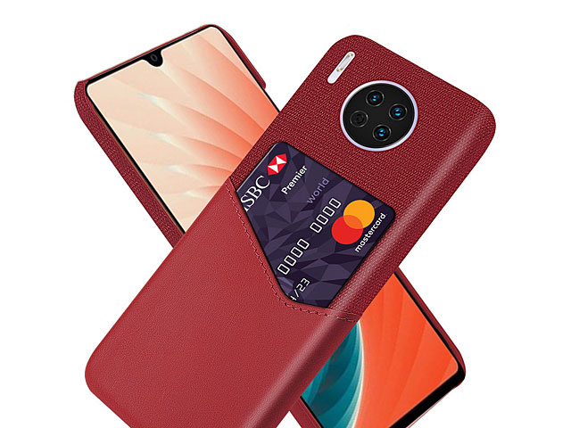 Huawei Mate 30 Two-Tone Leather Case with Card Holder
