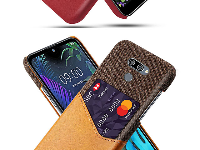 LG K50 Two-Tone Leather Case with Card Holder