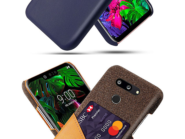 LG G8 ThinQ Two-Tone Leather Case with Card Holder