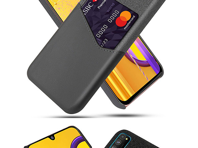 Samsung Galaxy M30s Two-Tone Leather Case with Card Holder