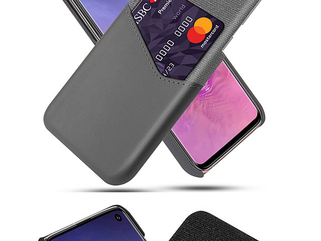 Samsung Galaxy S10+ Two-Tone Leather Case with Card Holder