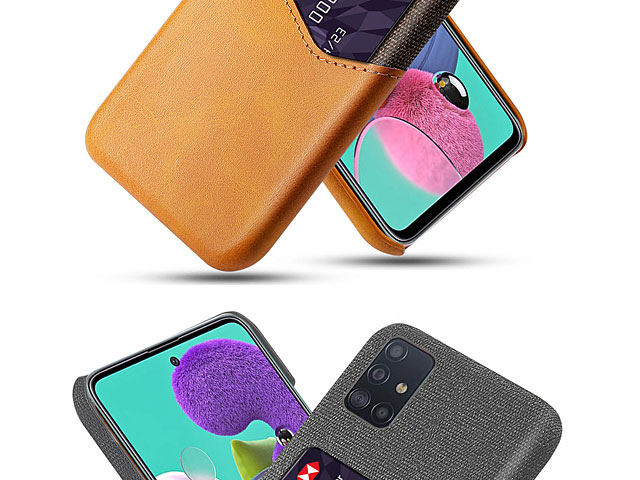 Samsung Galaxy A51 Two-Tone Leather Case with Card Holder