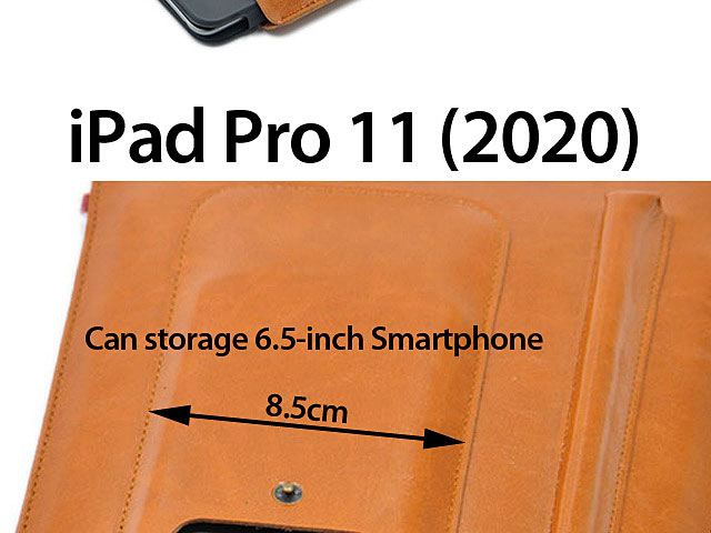 iPad Pro 11 (2020) Multi-functional Leather Sleeve