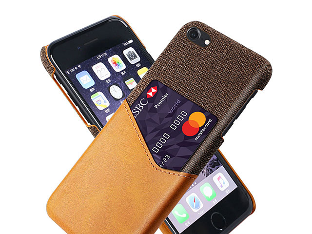 iPhone SE (2020) Two-Tone Leather Case with Card Holder
