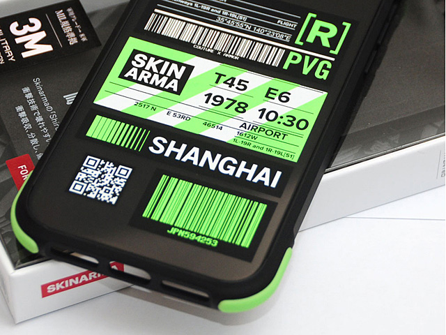 Skinarma Matte Airport Boarding Pass Ticket Case (Shanghai) for iPhone 11 Pro (5.8)