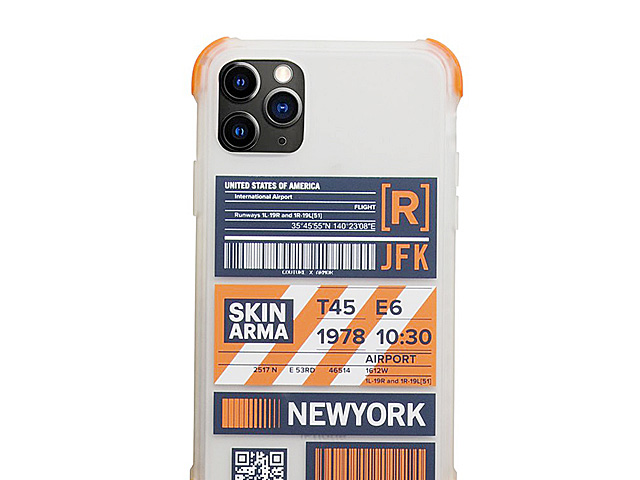 Skinarma Matte Airport Boarding Pass Ticket Case (New York) for iPhone 11 Pro (5.8)
