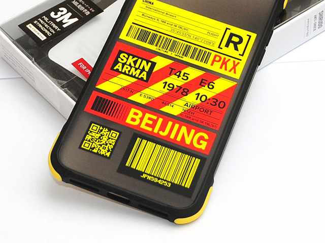 Skinarma Matte Airport Boarding Pass Ticket Case (Beijing) for iPhone 11 Pro Max (6.5)