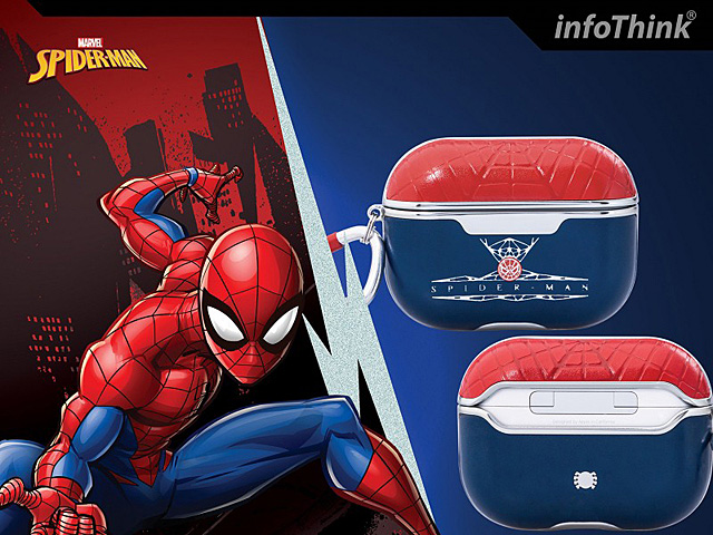infoThink Marvel Series Leather AirPods Pro Case - Spider-Man