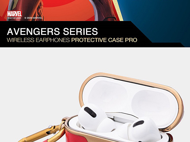 infoThink Marvel Series Leather AirPods Pro Case - Iron Man