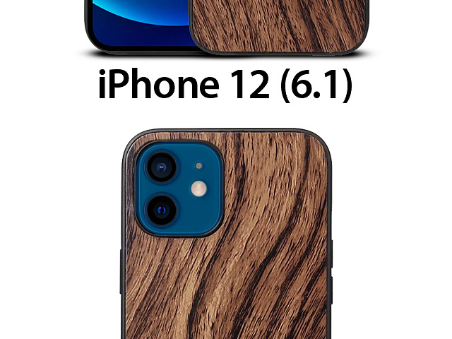 iPhone 12 (6.1) Woody Patterned Back Case