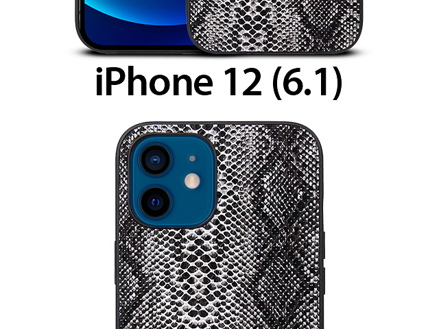 iPhone 12 (6.1) Faux Snake Skin Back Case
