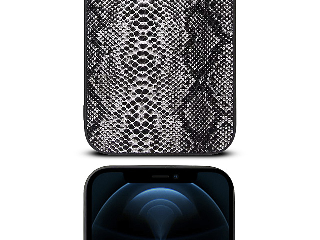 iPhone 12 Pro Max (6.5) Faux Snake Skin Back Case