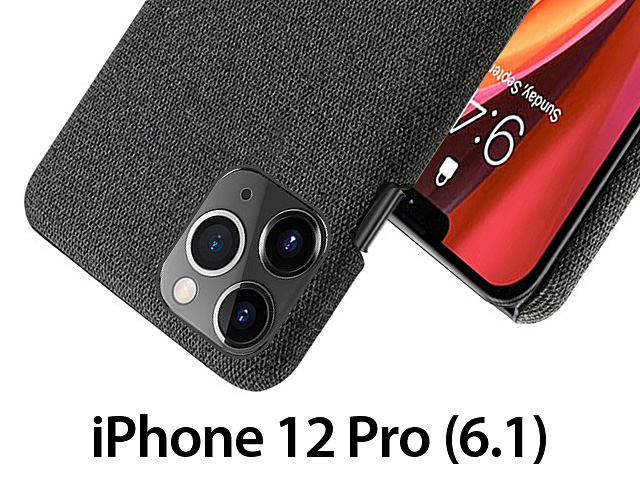 iPhone 12 Pro (6.1) Fabric Canvas Back Case