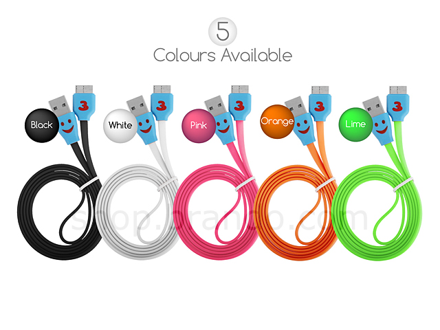 USB 3.0 micro B Colorful Flat Cable